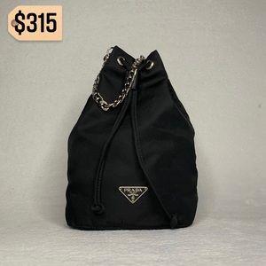 ✨✨✨✨SOLD✨✨✨✨Prada Nylon Mini Tessuto Pouch Handbag